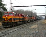 KCS 4787, BNSF 4505, 7696 on K044